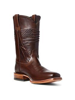 Mens Ariat Circuit Patriot Square Toe Boots