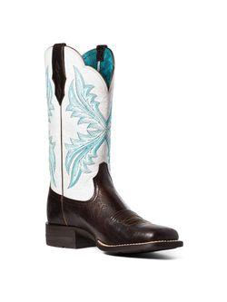 Ladies Ariat West Bound Chocolate Chip Boots