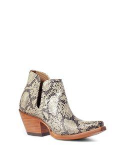 Ladies Ariat Snakeskin Dixon Boots
