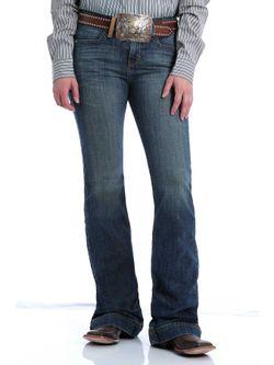 Ladies Cinch Lynden Medium Stone Jeans