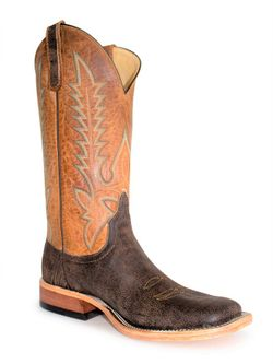 Mens Anderson Bean Cognac Cape Buffalo Boots