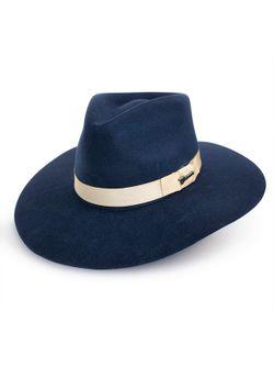 Ladies M&F Western Navy Pinch Front Hat