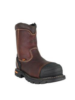 "Mens Thorogood 8"" Side Zip Well Composite Toe"