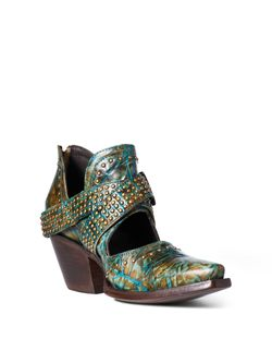 Ladies Ariat Dixon Rock N' Roll Topaz Turquoise Ankle Boots
