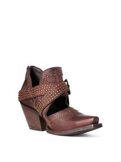 Ladies Ariat Dixon Rock N' Roll Weathered Chocolate Boots