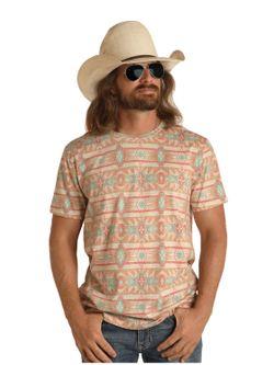 Mens Panhandle Slim Dale Brisby Aztec Tee Shirt