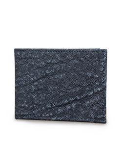 Mens Chacon Slim Fold Gray Elephant Wallet