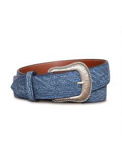 Mens Chacon Blue Sanded Shark 1 1/2 Belt