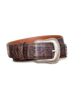 Mens Chacon Chocolate Caiman Belly Belt