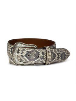 Mens Chacon Rattlesnake Natural 1 1/2 Belt