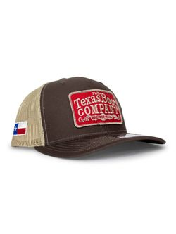 Mens TBC Khaki and Coffee Red Patch Cap