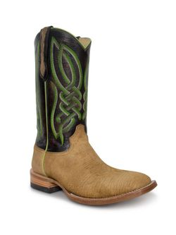 Mens Capitan Cimarron Honey Hippo Cowboy Boots
