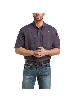 Mens Ariat Venttek Short Sleeve Charcoal Shirt