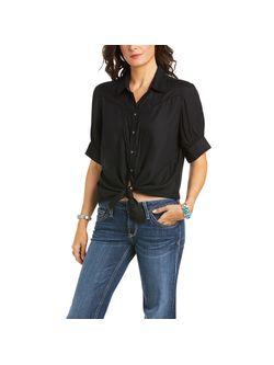 Ladies Ariat Desert Black Sonoran Short Sleeve Shirt