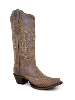 Ladies Corral Bronze Embroidered And Studs Boots
