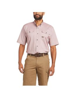 Mens Ariat Rebar Dry Fit Short Sleeve