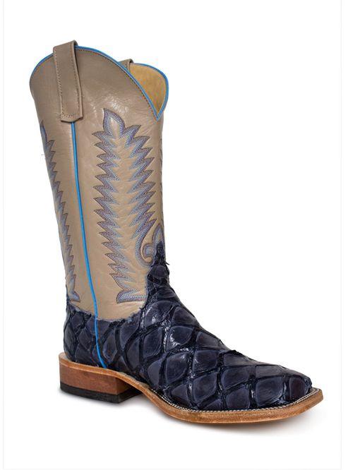 Anderson Bean Navy Big Bass Mens Cowboy Boots