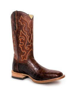 Mens Capitan Socorro Brown Nile Crocodile Boots