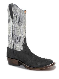 Mens Rios Of Mercedes Black Full Quill Ostrich Midnight Monet Boots
