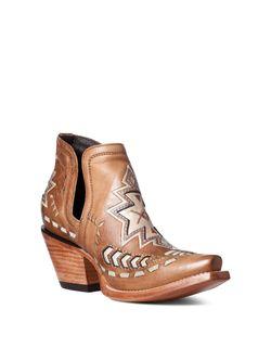 Ladies Ariat Tan Aztec Dixon Boots