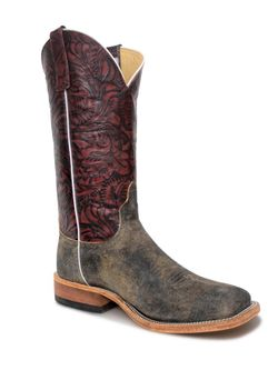 Mens Anderson Bean Wine Tooled Feral Sow Boots