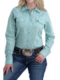Ladies Cinch Paisley Pearl Snap Long Sleeve Shirt