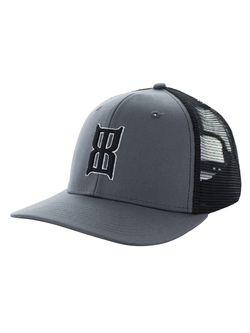 BEX Mens Badlands Charcoal & Black Ballcap