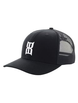 BEX Mens Steel Black Fitted Ballcap