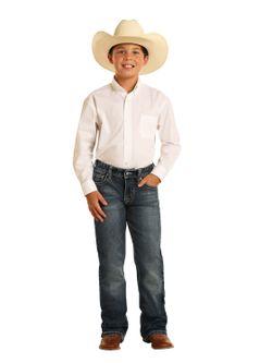 Kids Panhandle Slim Dark Wash Rock N Roll Cowboy Jeans