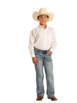 Kids Panhandle Slim Light Wash Rock N Roll Cowboy Jeans