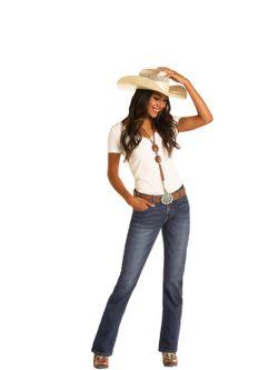 Ladies Panhandle Slim Midrise Bootcut Jeans