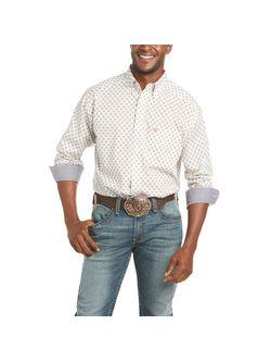 Mens Ariat Chestnut Truffle Long Sleeve Shirt