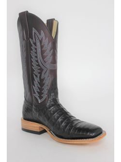 Ladies Macie Bean Black Caiman Boots