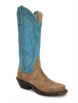 Ladies Anderson Bean Mesquite Smoked Bacon Turquoise Boots