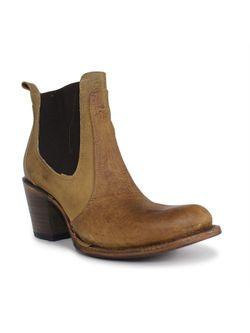 Ladies Corral Tan Elastic Ankle Boot