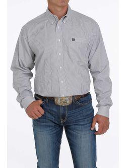Mens Cinch Plaid Gray Long Sleeve Shirt