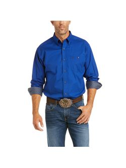 Mens Ariat Blue North Star Long Sleeve Shirt
