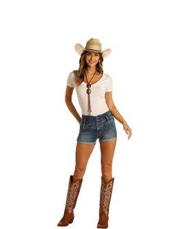 Ladies Panhandle Slim High Rise Shorts