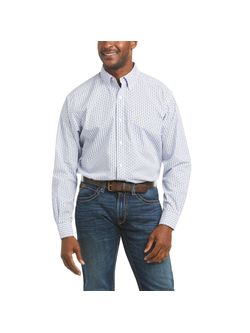 Mens Ariat Bane Classic White Long Sleeve Shirt