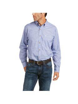 Mens Ariat Prussian Blue Long Sleeve Shirt