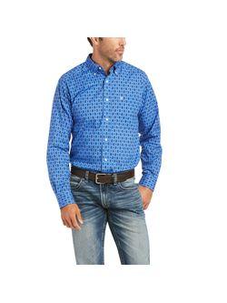 Mens Ariat Barr Prussian Long Sleeve Shirt