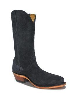 Ladies Fenoglio Black Roughout Boots