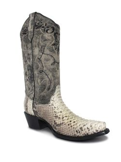 Ladies Corral Natural Python Print  Boots