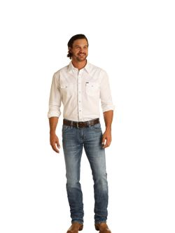 Mens Panhandle Slim Reflex Slim Revolver Jeans