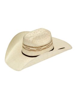 Mens MF Tan Straw Twister Hat