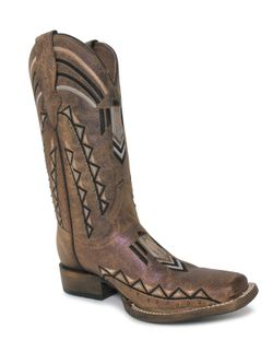 Ladies Corral Embroidered Sand Boots