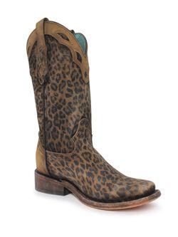 Ladies Corral Leopard Print Boots