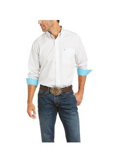 Mens Ariat Gary Classic White Long Sleeve Shirt