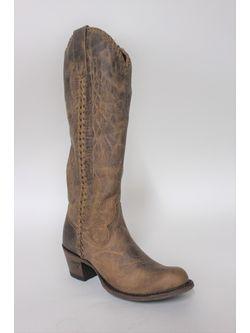 Ladies Lane  Brown Plain Jane Tall Boots