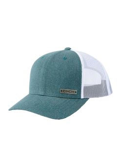 Mens Cinch Turquoise Trucker Cap Snapback